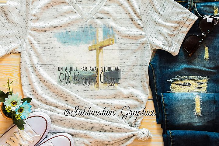 Rugged Cross Sublimation Digital Download