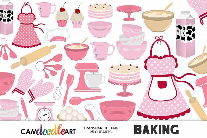 Pink Baking Cliparts