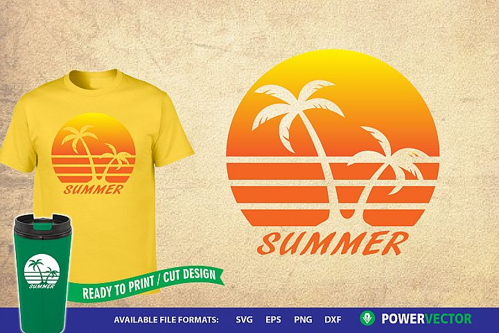 Summer Sunset SVG | Nature Sublimation Design