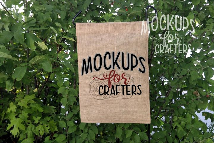 MOCK-UP - Straight Top Burlap Flag 12x18,