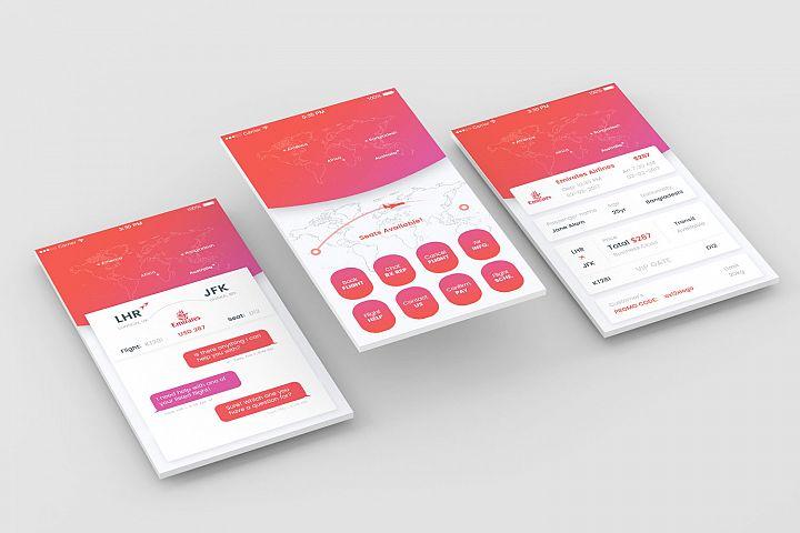 App Screens Perspective Mockup