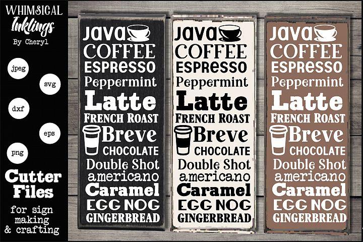 Java Collage-Coffee SVG
