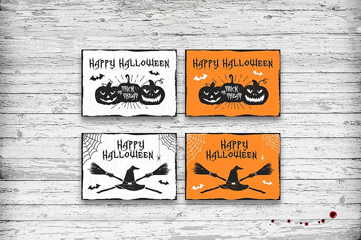 Halloween. 20 Greeting Cards - Free Design of The Week Design6
