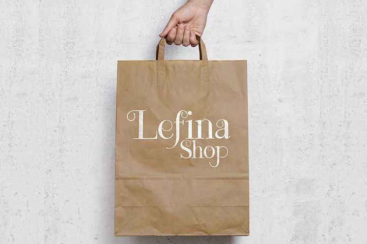 Lefina - Free Font of The Week Design 4