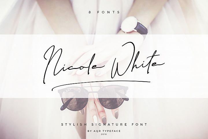 NicoleWhite Signature Font -Big Update -