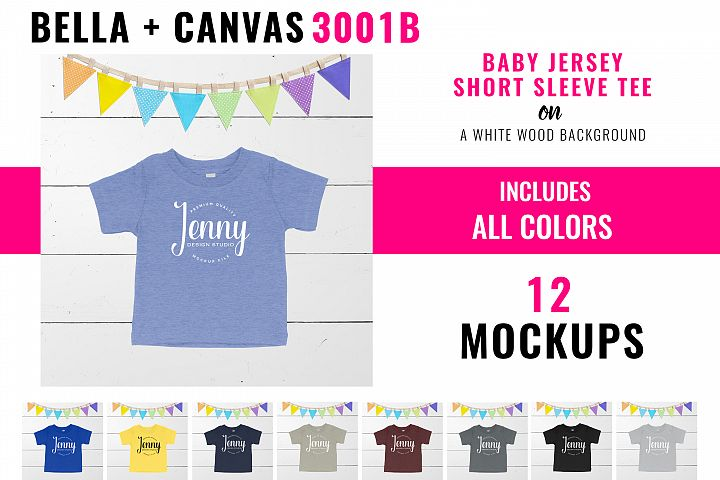 Bella Canvas 3001B Baby Unisex Mockup Bundle