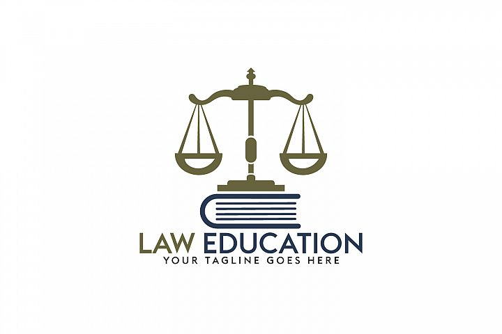 Law Education Logo Design.