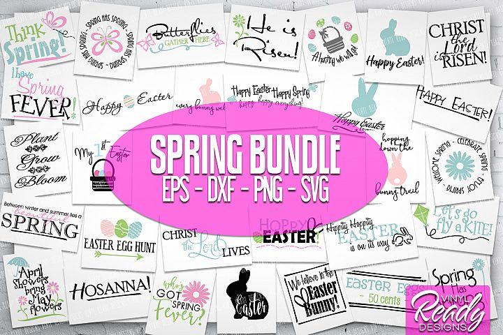 Easter Spring Svg Bundle - 30 designs - Vector Svg Cut Files