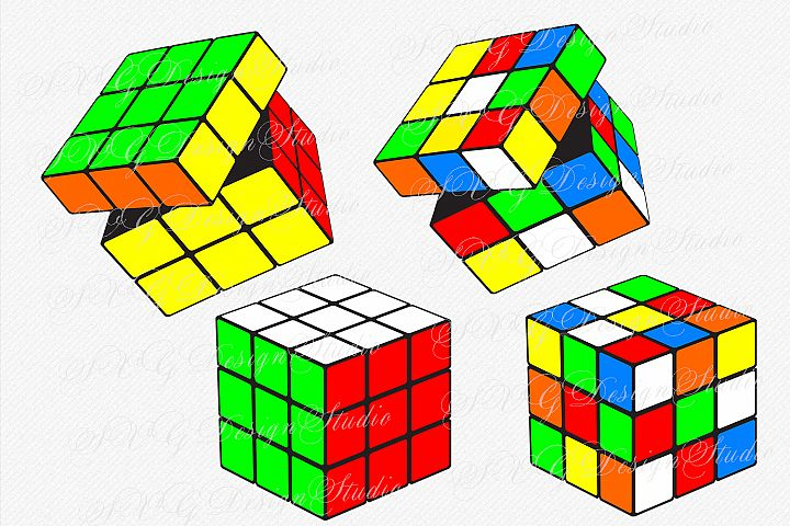 Set of four Rubiks Cube