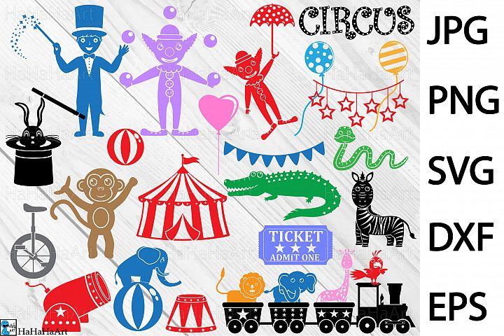 Monogram Circus Carnival - Clip art / Cutting Files 160c