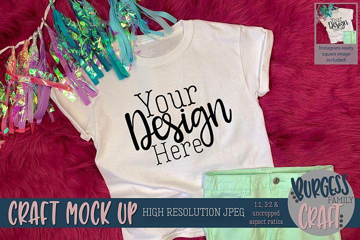 Birthday shirt Craft mock up | High Resolution JPEG
