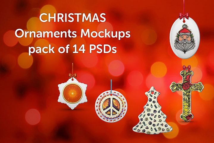 Christmas Ornaments Design Mockups Pack