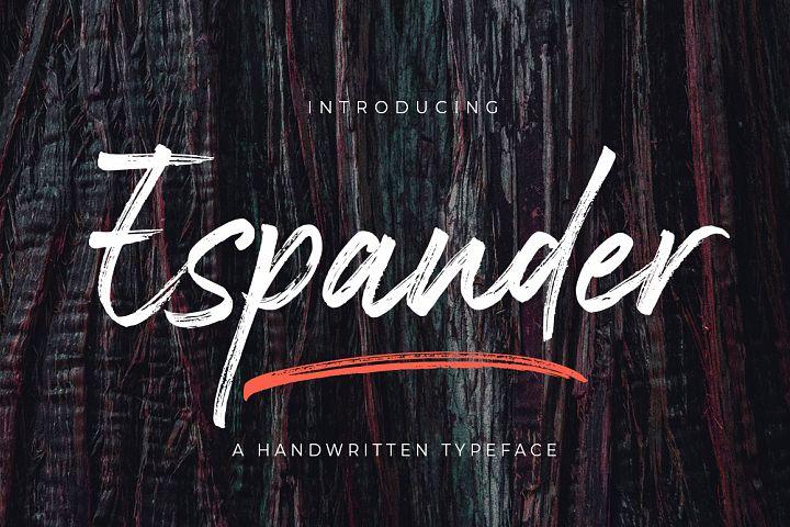 Espander - Handwritten Typeface
