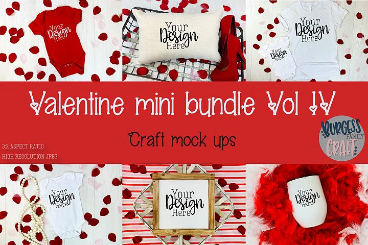 Valentine Mini Bundle Vol IV | Craft mock ups