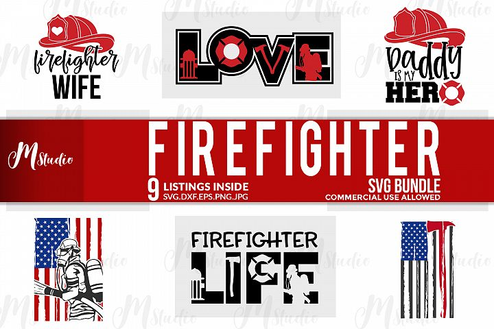 Firefighter SVG bundle