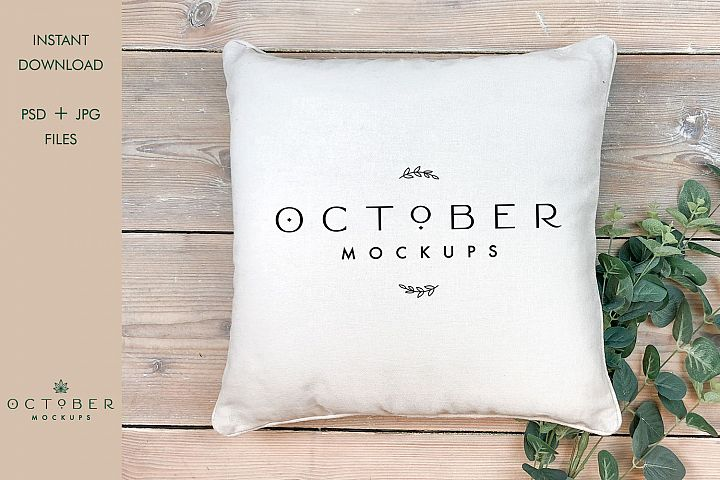 Pillow mockup | background clipart | cushion mockup | PSD