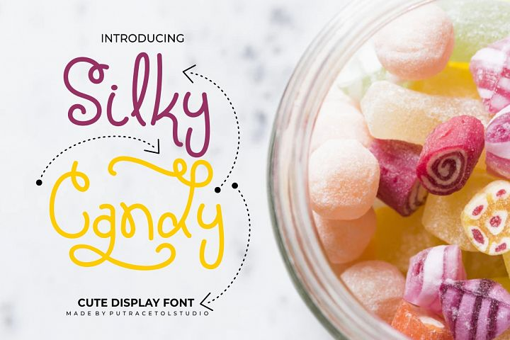 Silky Candy - Cute Sweet Font
