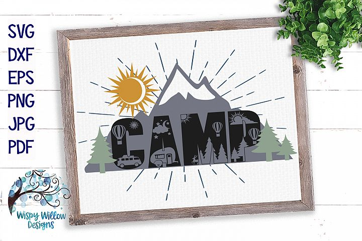 Camp SVG | Mountain Camping SVG Cut File