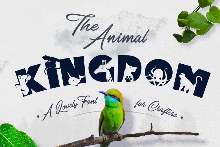 Animal Kingdom Craft Font | Wild Animals Font
