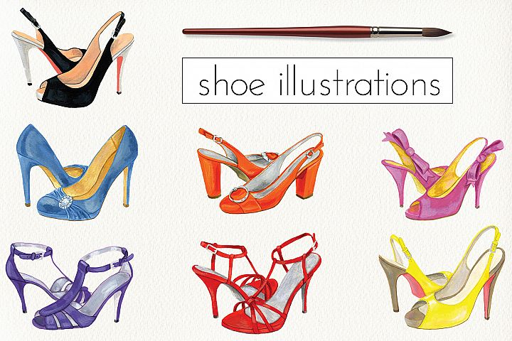 Fashion Shoe Illustrations