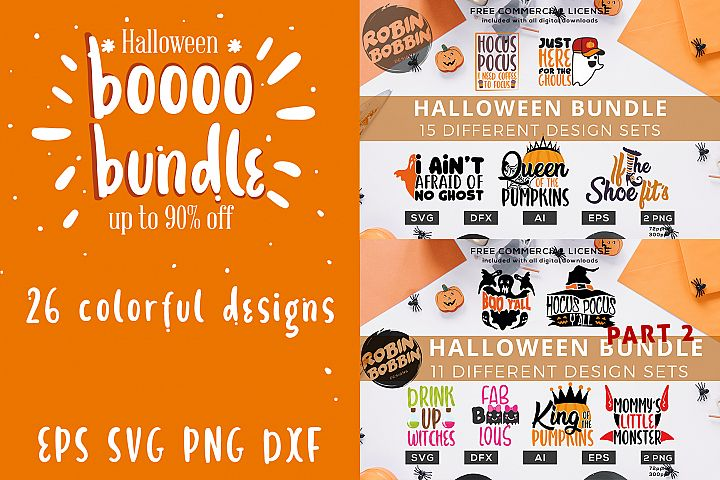 Big Halloween Bundle - 26 colorful designs