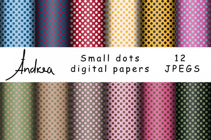 Small dots digital papers
