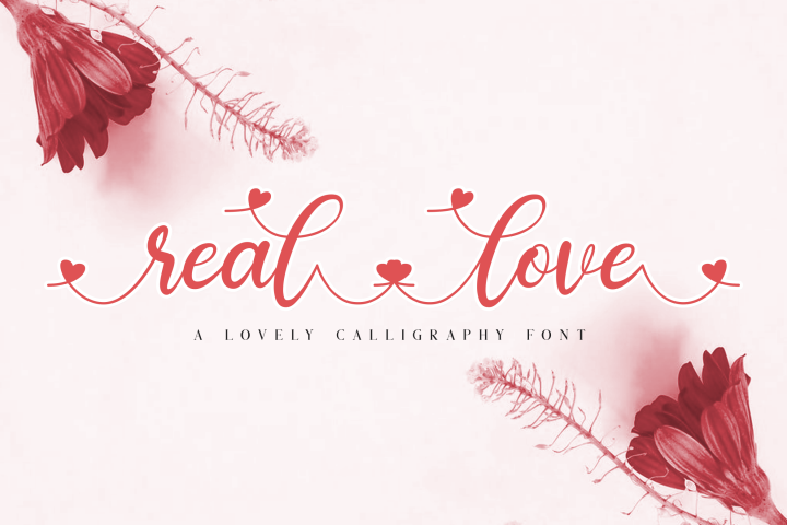 real love // a lovely calligraphy font