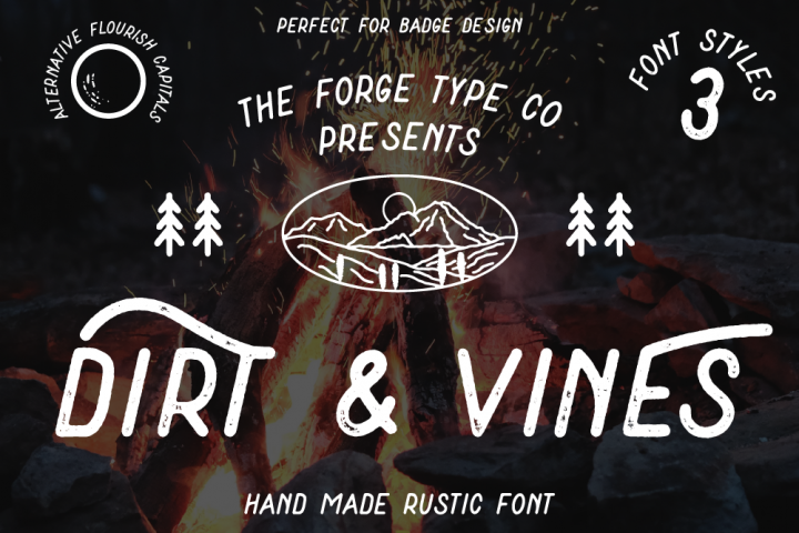 Dirt & Vines - A Gritty Adventure San-Serif