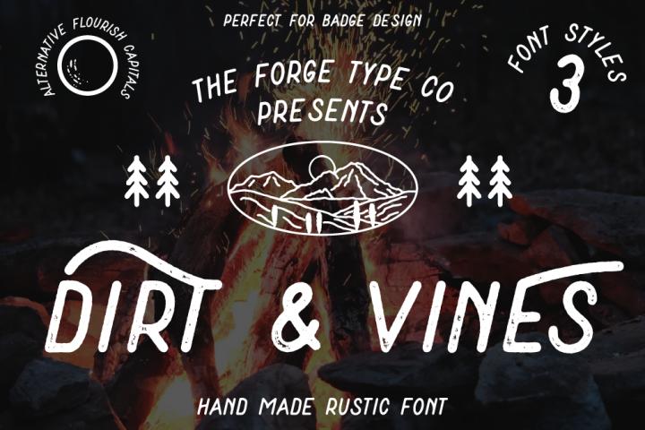 Dirt & Vines - A Gritty Adventure San-Serif