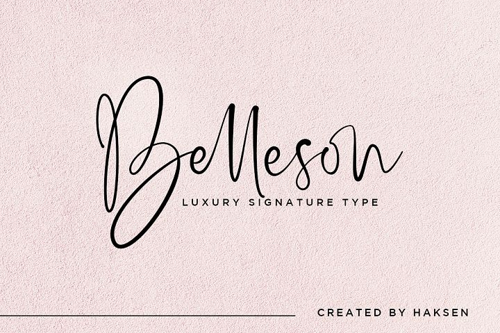Belleson Luxury Script Type