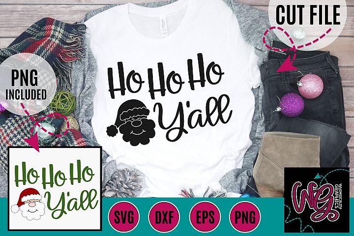 Ho Ho Ho Yall Christmas SVG, DXF, PNG, EPS