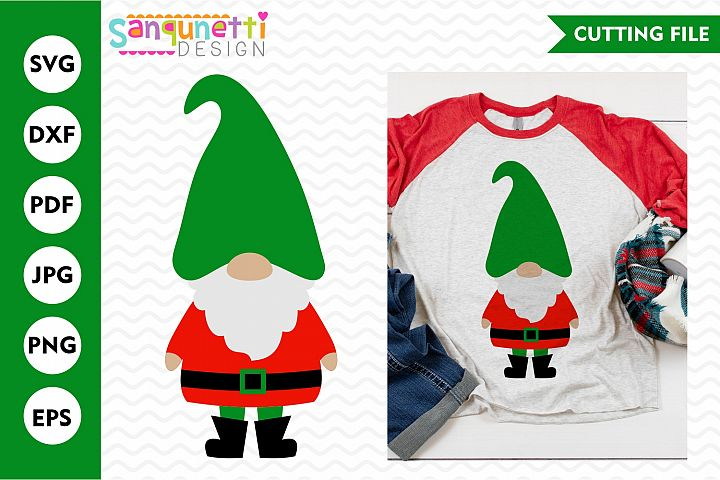 Christmas gnome svg, winter cutting file