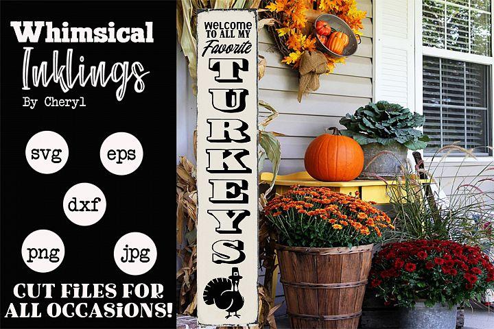 Favorite Turkeys- Thanksgiving Vertical SVG