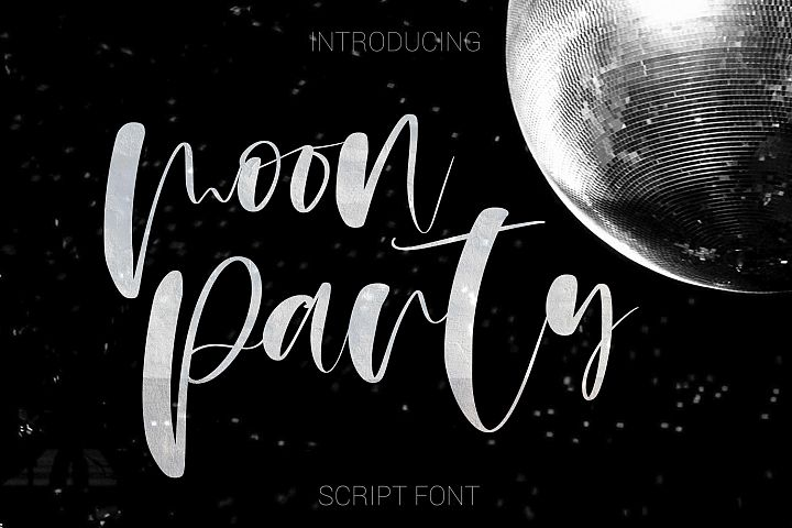 Moon Party Script Font