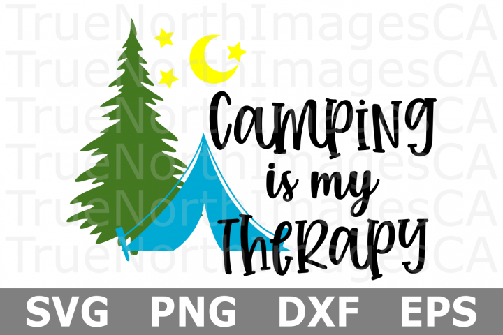 Camping is my Therapy - A Camping SVG File