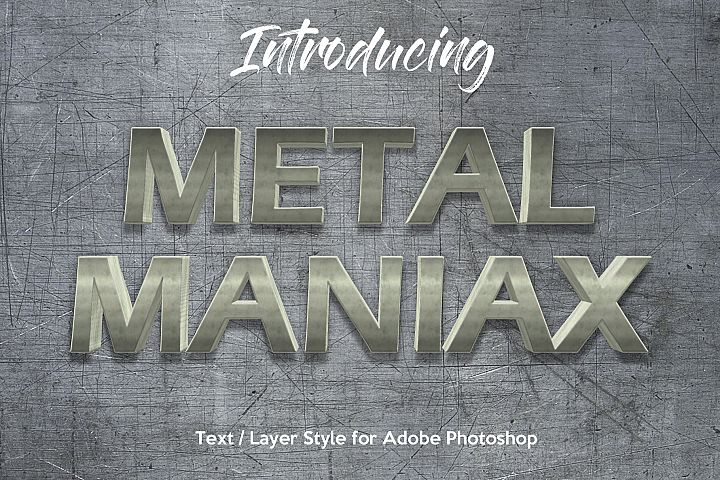 10 Metalic Chrome Layer Style for Photoshop