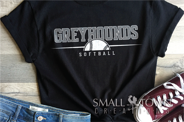 Greyhound, Softball Logo, Team, Sport, PRINT, CUT & DESIGN