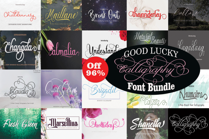 Good Lucky Calligraphy Font Bundle