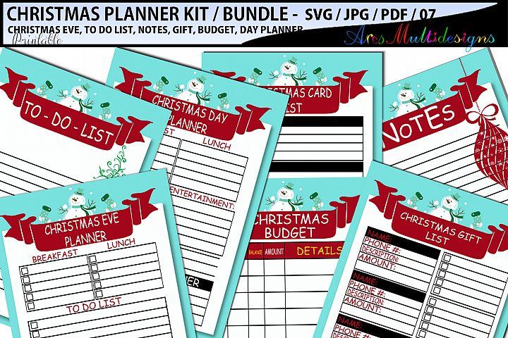 Christmas Planner SVG / printable christmas planner bundle