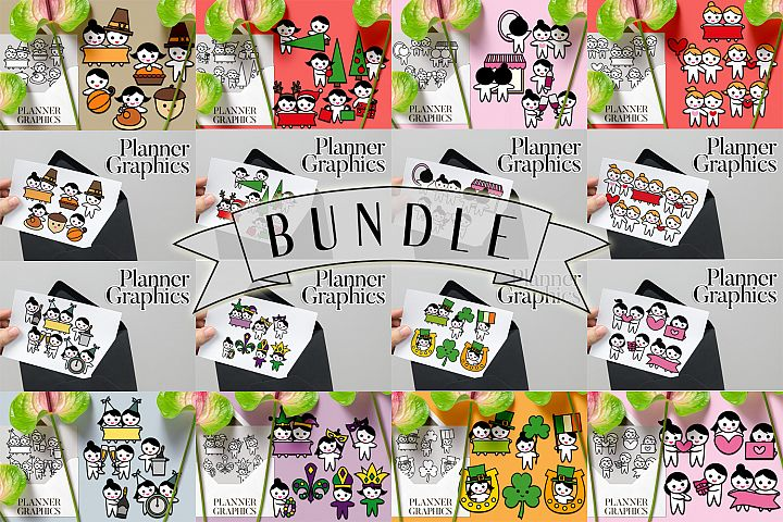 Holidays Bundle - Planner Graphic Illustrations