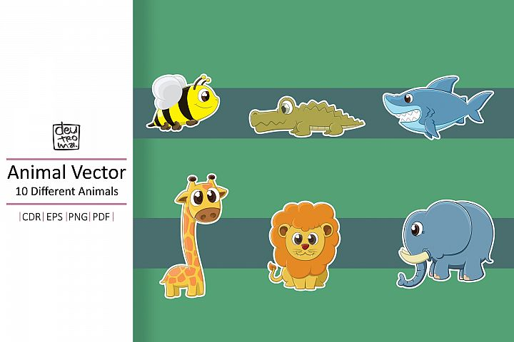 Hand Drawing Animals Vector - EPS CDR PDF PNG