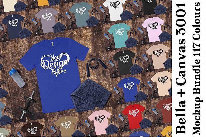 Bella Canvas 3001 Mockup Bundle T-Shirt Mock Ups 200