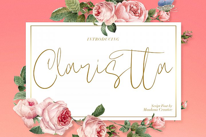 Claristta - Handwritten Brush Font