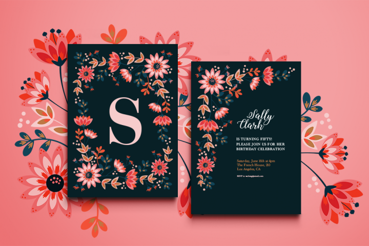 Sochi Floral Invitation
