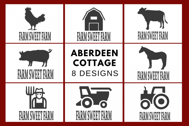 Farm Sweet Farm SVG | PNG | EPS | DXF Bundle - 8 Designs
