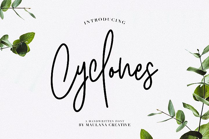 Cyclones Signature Brush Font