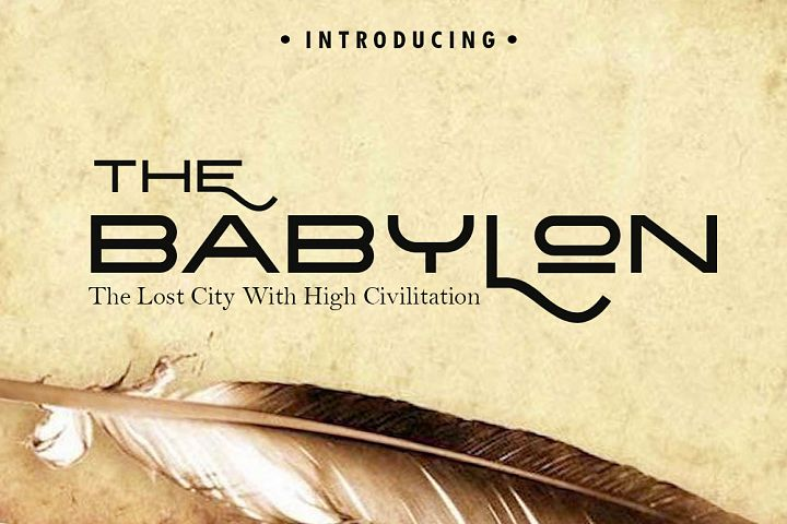 The Babylon Strong Typeface