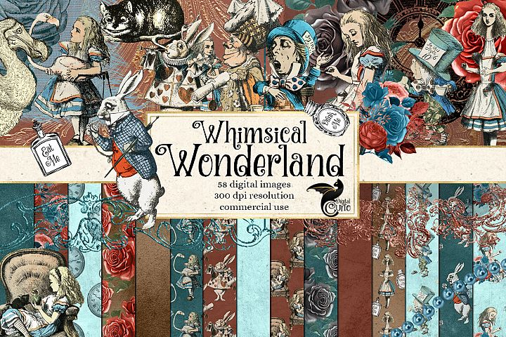 Whimsical Wonderland Alice In Wonderland Tea Party Graphics