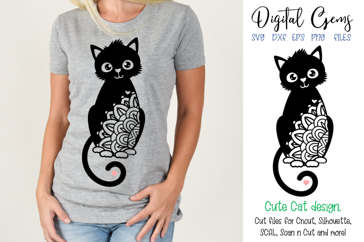 Cat SVG / EPS / DXF / PNG Files