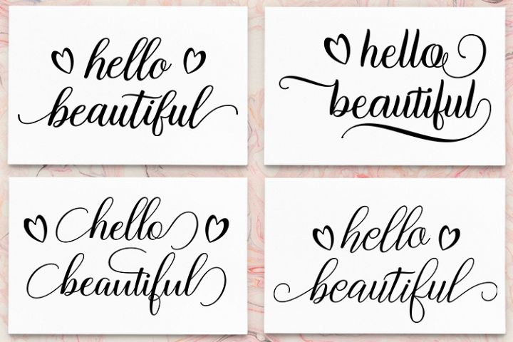 Hello Beautiful - SVG PNG EPS DXF